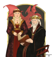 Rey Aerys I y reina Aelinor by Chillyravenart©