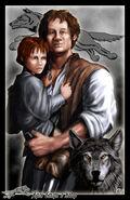 Hodor y Bran by Amoka©