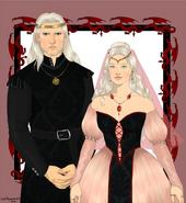 Rey Aegon III y reina Daenaera by Chillyravenart©