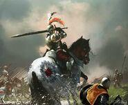 Brightwater Keep cavalry by Tomasz Jedruzek, Fantasy Flight Games©