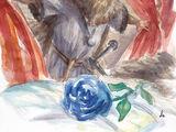 Rosa azul invernal