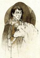 Jon Nieve y Fantasma by Elia Mervi©