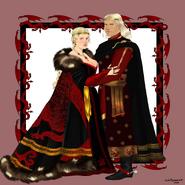 Reina Rhaenyra y el príncipe Daemon by Chillyravenart©