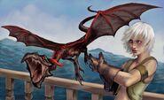 Dany and drogon by Veronica Jones, Fantasy Flight Games©