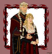 Rey Jaehaerys I y reina Alysanne by Chillyravenart©
