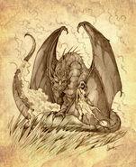 Daenerys Targaryen y Drogon by Félix Sotomayor©
