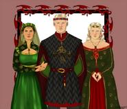 Rey Aegon II con su esposa y su madre by Chillyravenart©