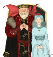 Rey Aegon IV y reina Naerys by Chillyravenart©