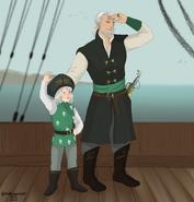 Corlys y Laenor en un barco by Chillyravenart©