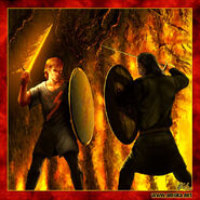 Beric Dondarrion vs Sandor Clegane by Amoka©
