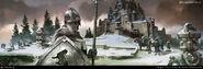 Winterfell by Tomasz Jedruzek, Fantasy Flight Games©