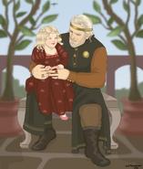El príncipe Baelon y su nieta Rhaenyra by Chillyravenart©
