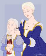 Aemma and Rhaenyra by Riotarttherite©
