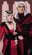 Daemon and Rhaenyra by Naomi©