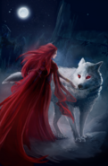 Melisandre and Ghost by Eva Maria Toker©