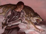 Robb Stark y Viento Gris by Veronica Jones, Fantasy Flight Games©