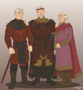 Aegon I y sus dos hijos by Chillyravenart©