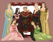 Rey Maegor I y sus seis reinas by Chillyravenart©