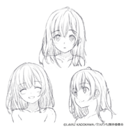 Sayu Anime Rough Sketch