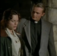 Kanwulf posing as a Priest talks with Rachel about MacLeod