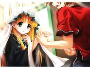 "Asia, I will become your friend. No, we are already friends."" – Issei holding Asia's hand (Textless)"