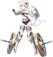 Koneko with armor at Fantastia Re-Build Render