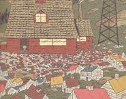 Elf village outside Hilda's house - graphic novels