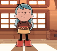 Hilda taking Sparrow Scouts oath