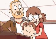 David and parents