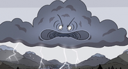 Angry weather spirit