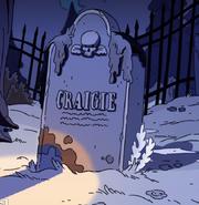 Craigie Williams' grave