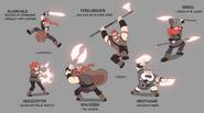 Knudsen Clan character sheet