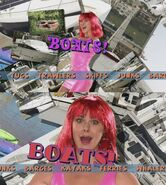 Boats Red Wig