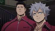 Shun watching Sōsuke's Match