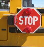 New modern type stop arm for school bus