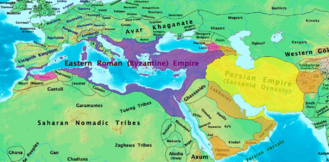 Byzantine and Sassanid Empires in 600 CE.png