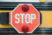 Air Operated Stop arm with stop sign