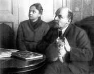 Lenin-and-Krupskaya-with-a-cat-1920