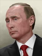 Portrait Rusia Vladimir Putin