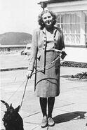Eva Braun walking dog
