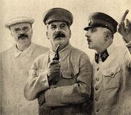 Molotov, Stalin and Voroshilov, 1937