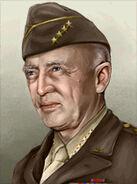 Portrait USA George S Patton
