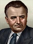 Portrait Czech Klement Gottwald