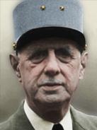 Portrait Free France Charles de Gaulle general