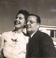 Salvador Allende y Hortencia Bussi (1946)
