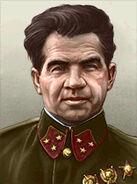 Portrait Soviet Vasily Chuikov