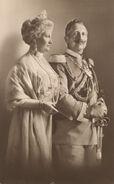 Kaiser Wilhelm II. und seine Frau Auguste Viktoria