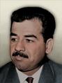 Portrait Iraq Saddam Hussein