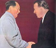 Mao Zedong and Enver Hoxha