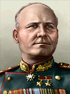 Portrait Soviet Ivan Konev